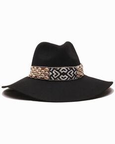 Gottex Women's Black Seri Wool Felt Floppy Hat , Black, hi-res