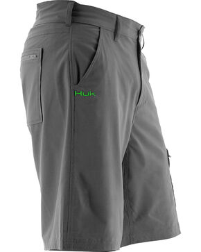 Huk Performance Fishing Men's Next Level Shorts , Charcoal Grey, hi-res