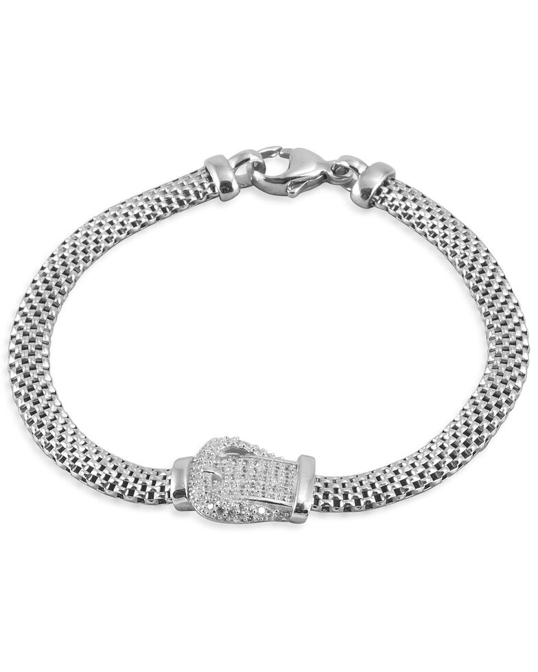 Kelly Herd Women's Buckle Bracelet, Silver, hi-res
