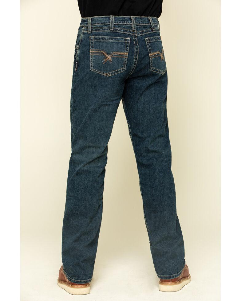 Wrangler 20X Men's FR Advanced Comfort Dark Vintage Boot Work Jeans , Dark Blue, hi-res