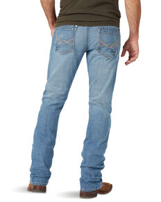 Rock 47 By Wrangler Men's Talk Box Light Stretch Slim Straight Jeans , Blue, hi-res