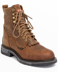Tony Lama Men's Sierra Badlands Waterproof Work Boots, Brown, hi-res