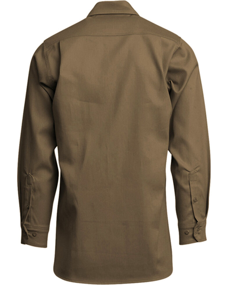 Lapco Men's Khaki FR Long Sleeve Uniform Work Shirt , Beige/khaki, hi-res