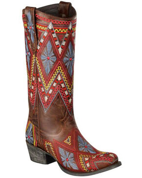 Lane Women's Sunshine Western Fashion Boots, Brown, hi-res