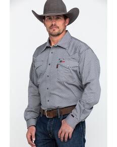 018e3d9a268 Cinch Men s Grey FR Geo Print Long Sleeve Work Shirt