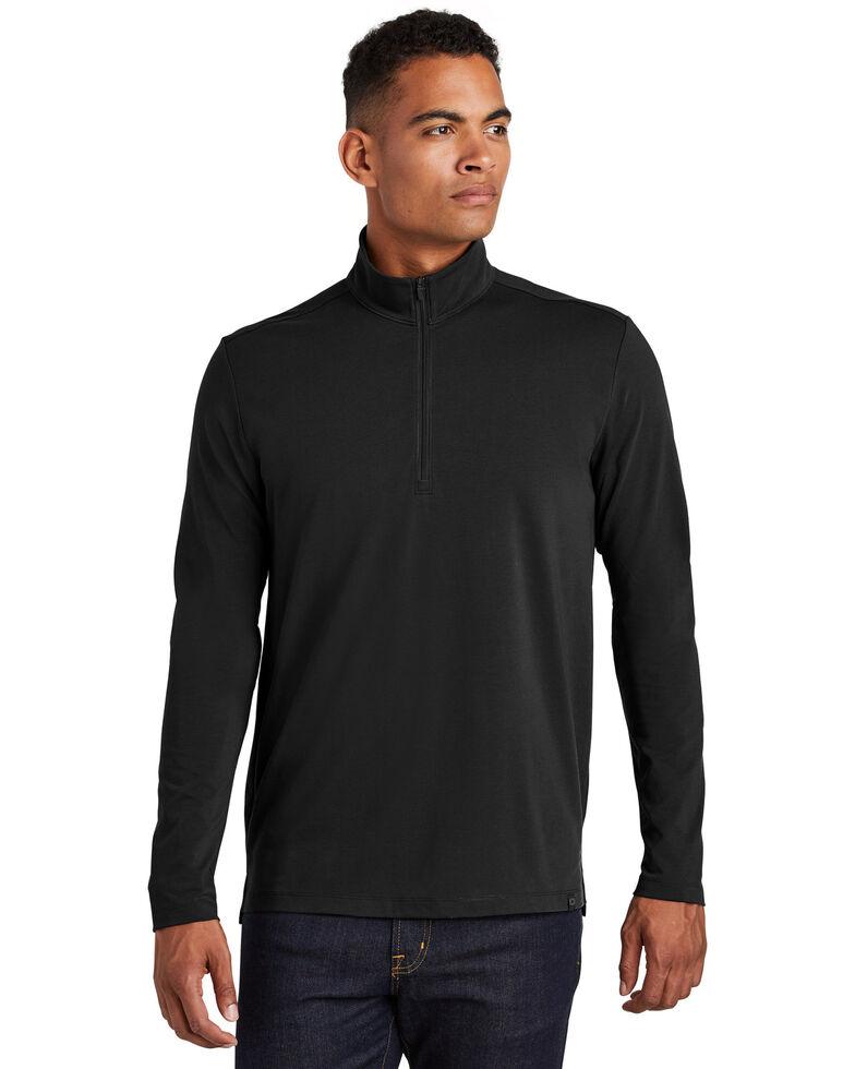 Ogio Nexus Men's Black Limit 1/4 Zip Pullover Work Sweatshirt - Big , Black, hi-res