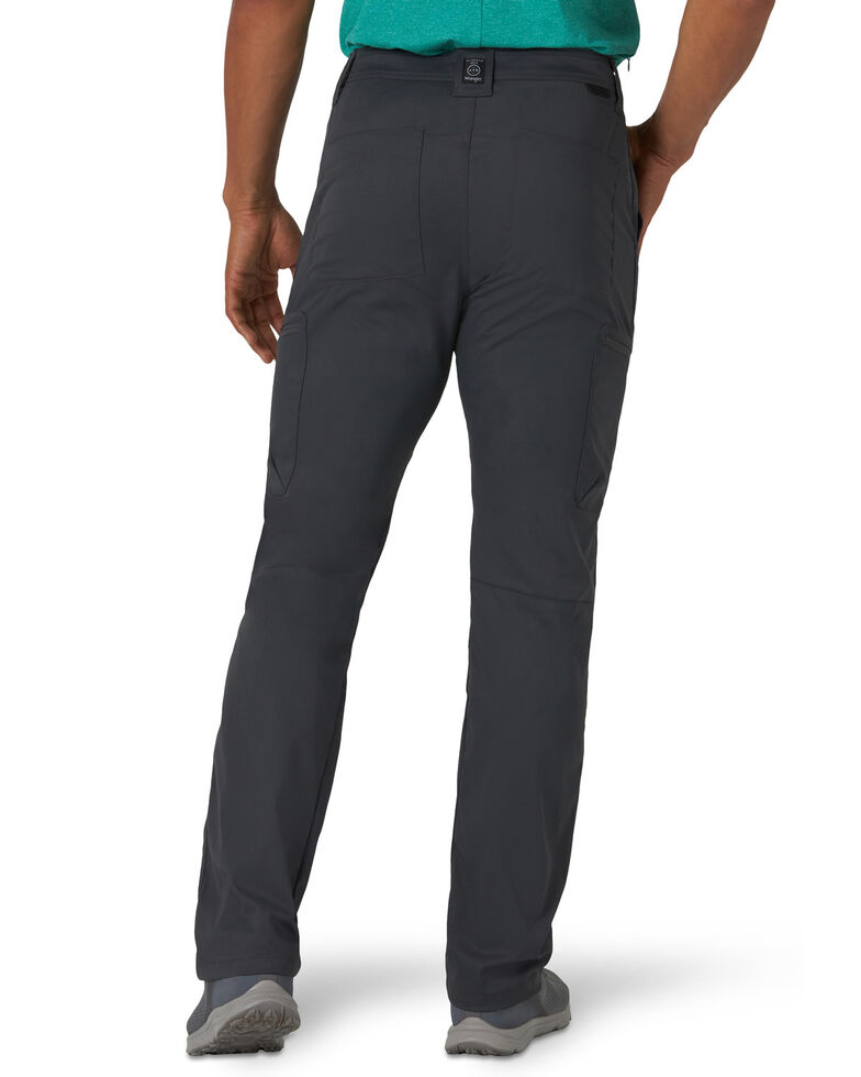 Wrangler All-Terrain Men's Asphalt Zip Cargo Synthetic Pants , Charcoal, hi-res