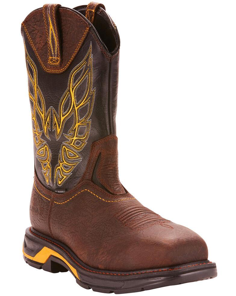Ariat Men's Brown Workhog XT Firebird Boots - Carbon Toe, Brown, hi-res