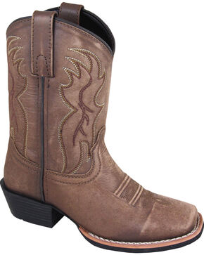 Smoky Mountain Boys' Gallup Western Boots - Square Toe, Brown, hi-res