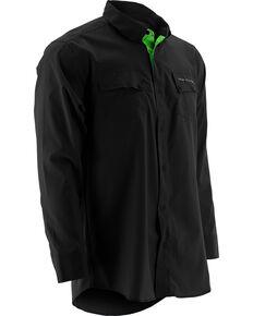 Huk Performance Fishing Men's Phenom Long Sleeve Shirt , Black, hi-res