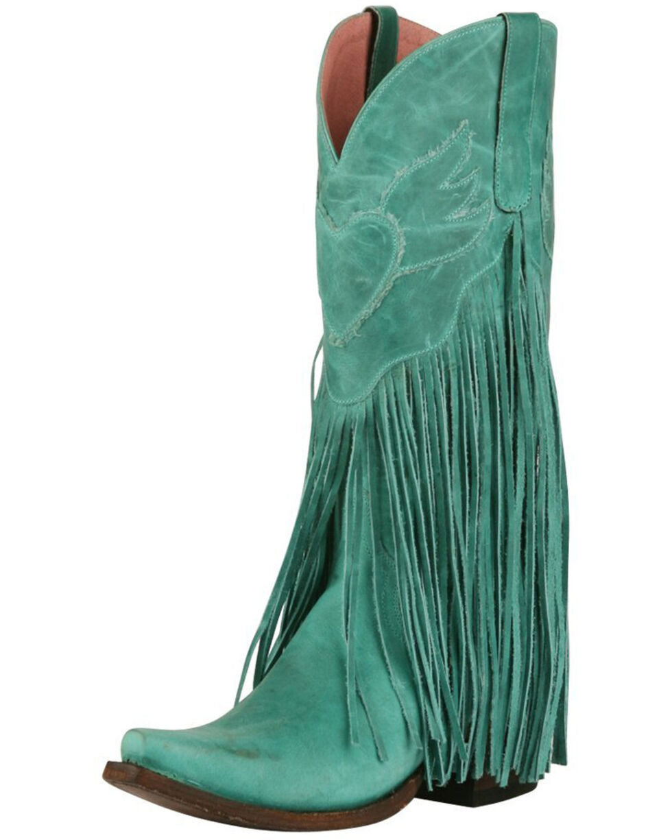 Junk Gypsy by Lane Women's Dreamer Western Boots, Turquoise, hi-res