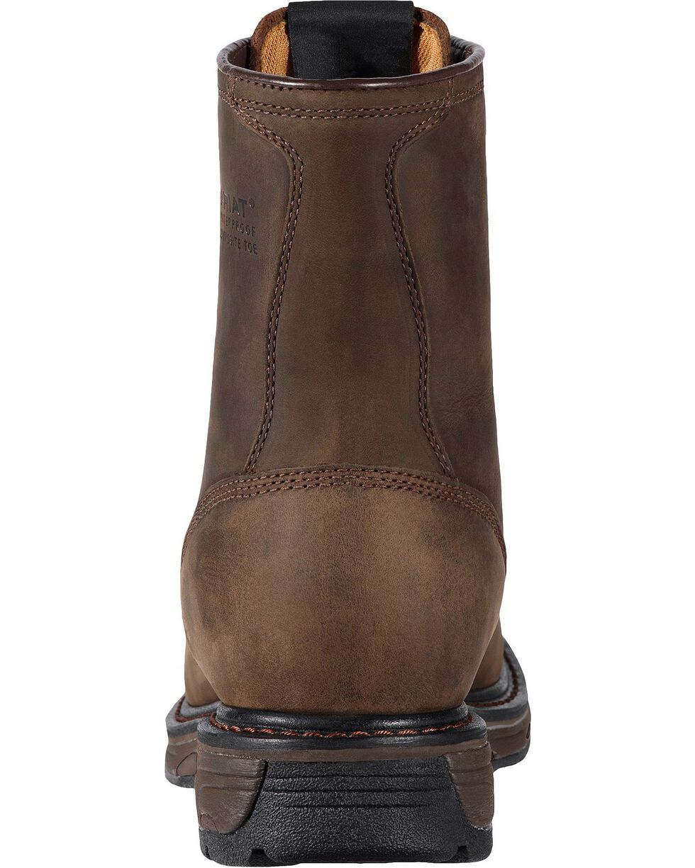 "Ariat Men's Workhog 8"" Composite Toe Work Boots, Distressed, hi-res"