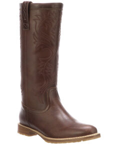 Lucchese Women's Brown Waterproof Rain Boots - Round Toe, Brown, hi-res