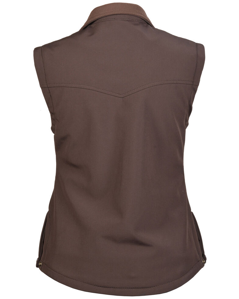 STS Ranchwear Women's Barrier Zip Vest , Brown, hi-res