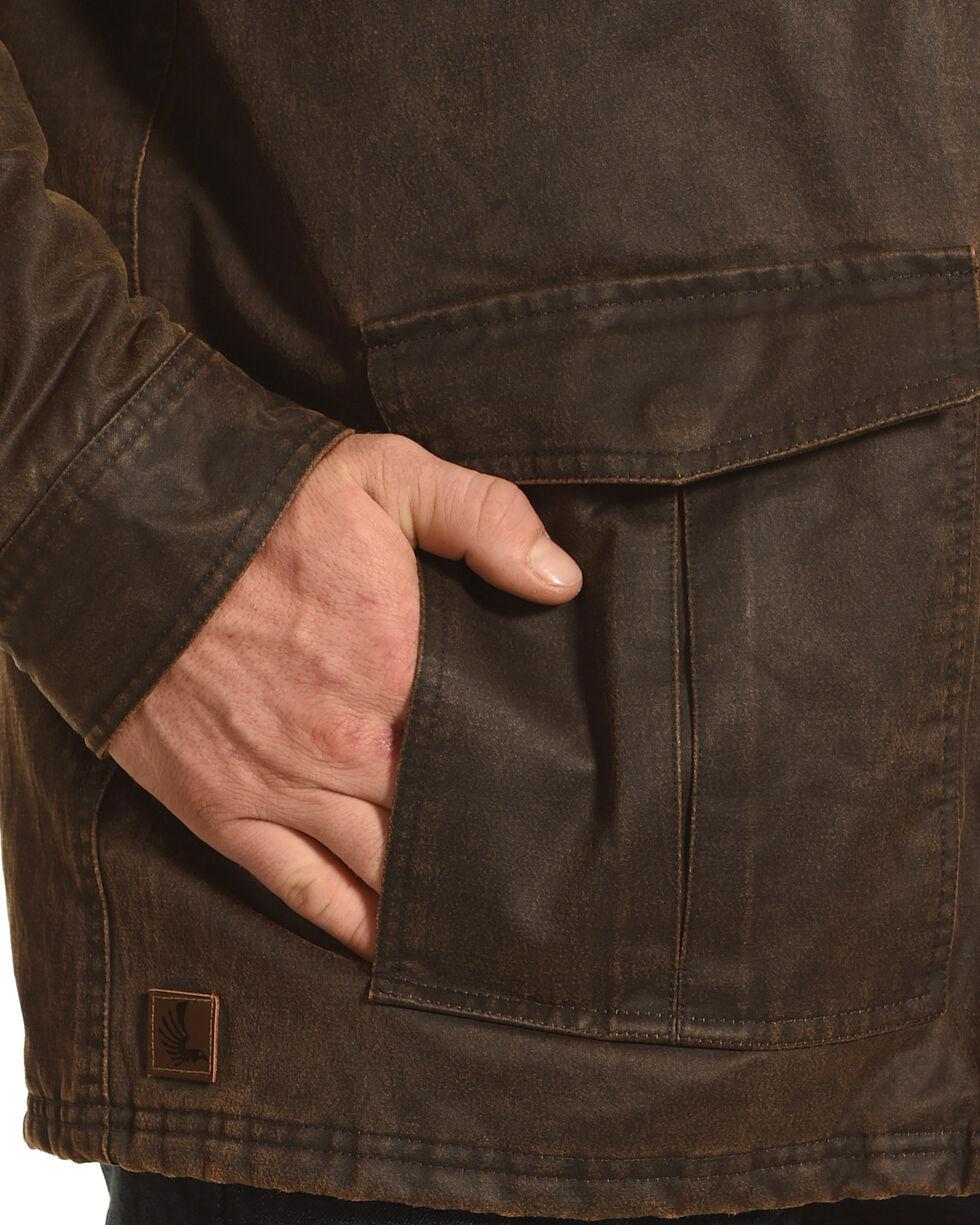 Cody James Men's Oilskin Jacket, Brown, hi-res