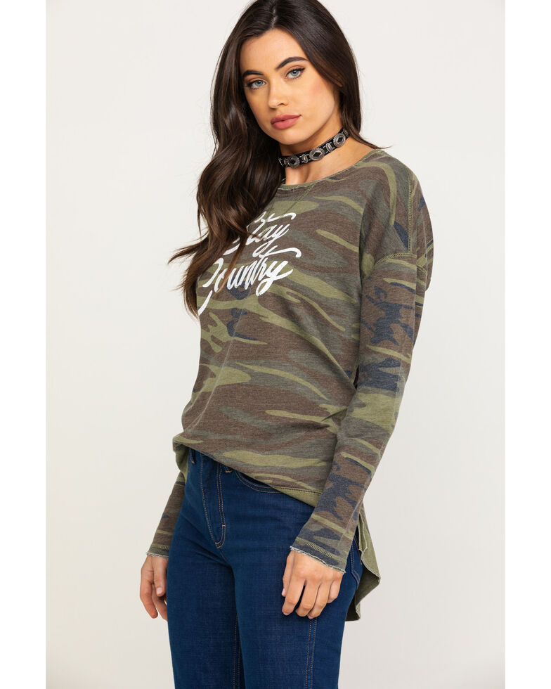 White Crow Women's Camo Stay Country Pullover, Camouflage, hi-res