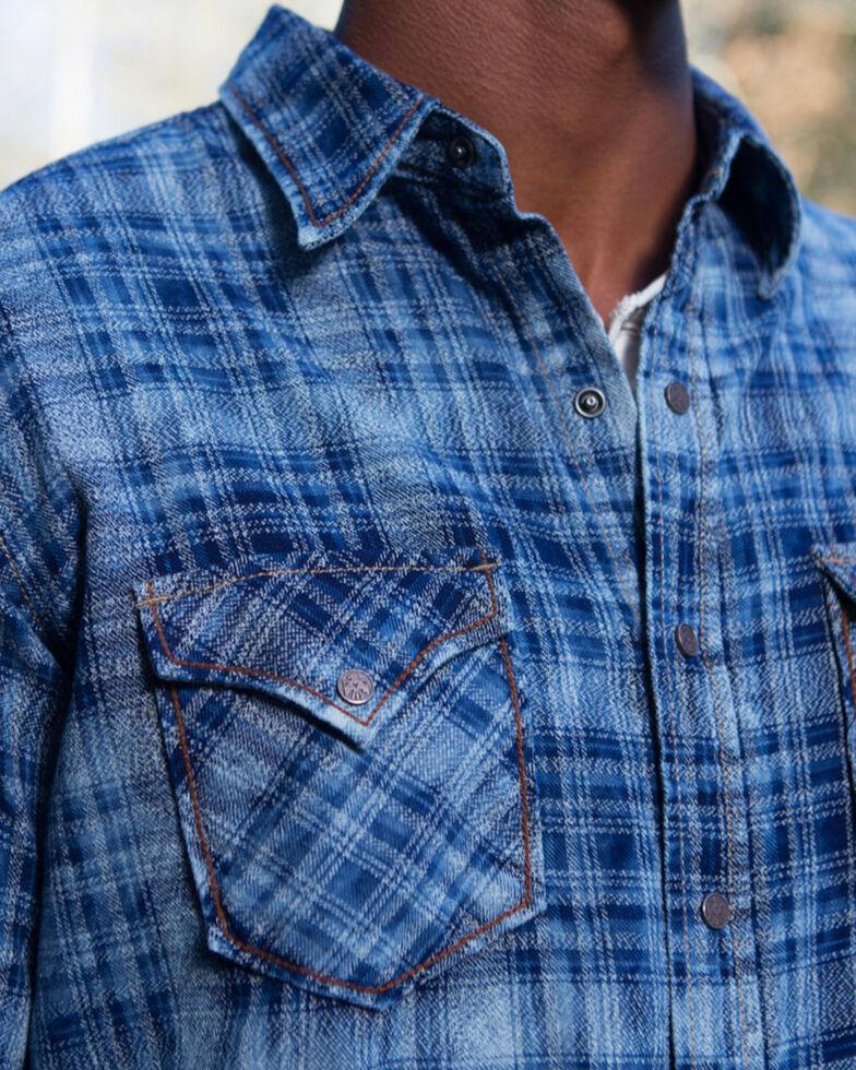 Ryan Michael Men's Indigo Jaspe Plaid Shirt , Indigo, hi-res