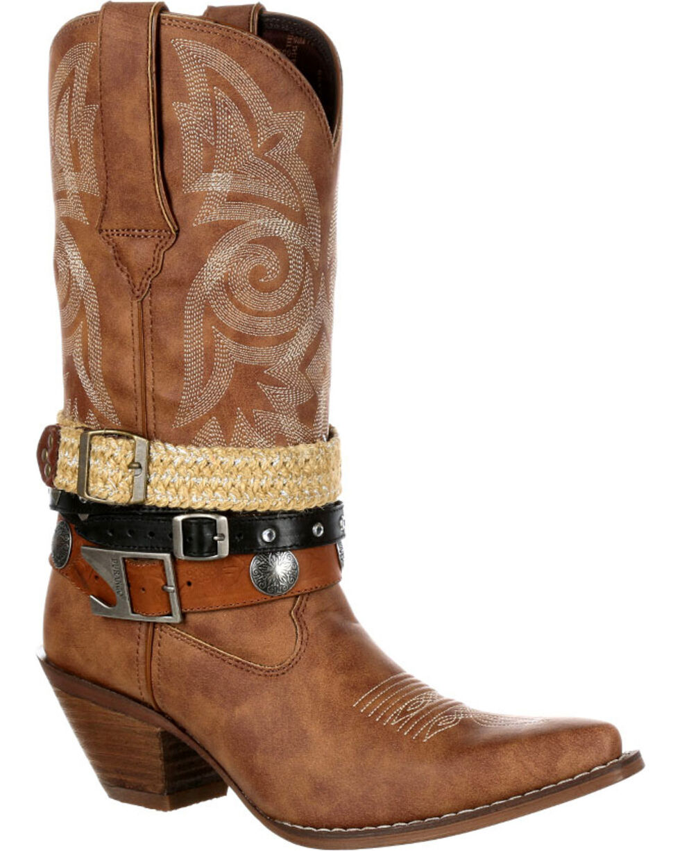 Crush by Durango Women's Accessory Western Boot, Tan, hi-res