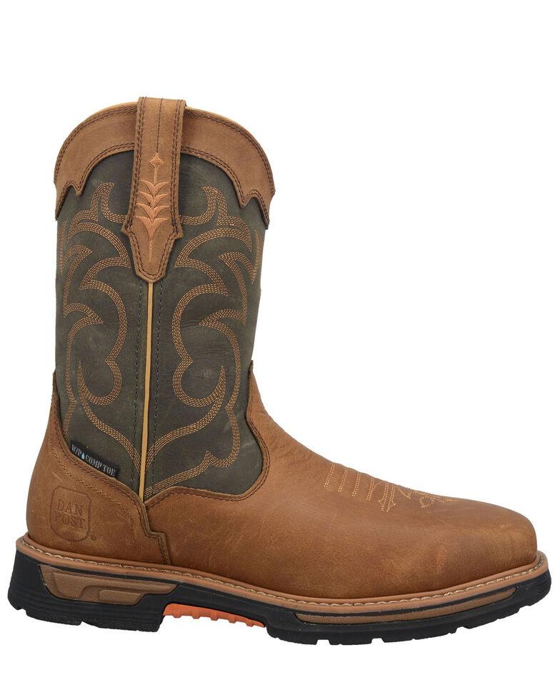 Dan Post Men's Storm Tide Western Work Boots - Composite Toe , Tan, hi-res