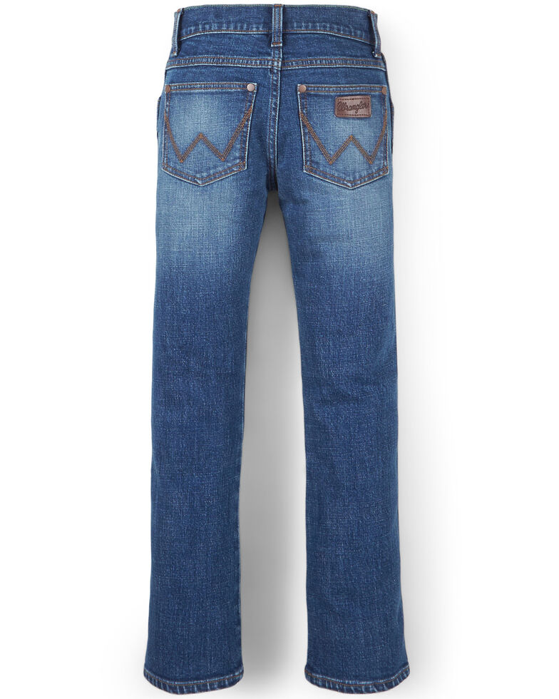 Wrangler 20X Boys' No.44 Stirrup Stretch Slim Straight Jeans , Blue, hi-res