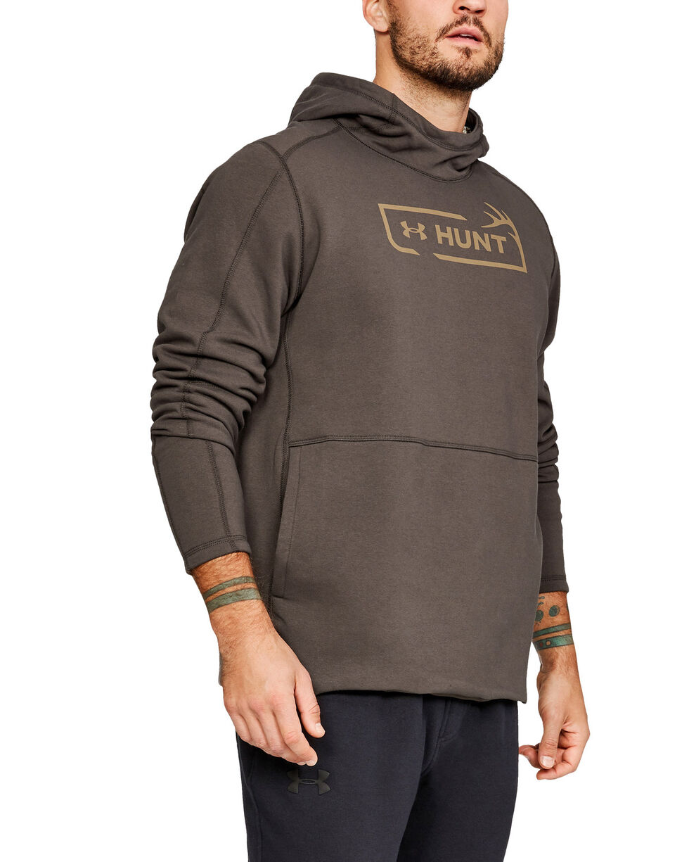 Under Armour Men's Brown Rival Hunt Icon Hoodie , Brown, hi-res