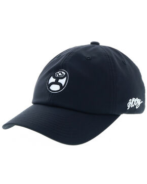 HOOey Men's Center Front Logo Cap , Black, hi-res