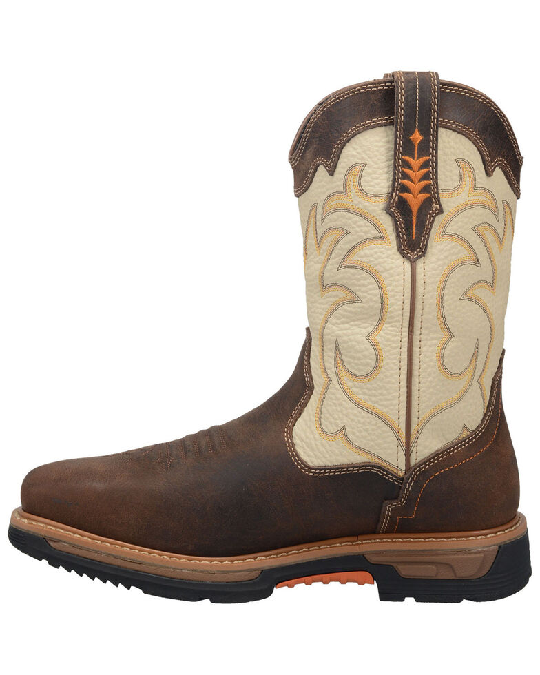 Dan Post Men's Storm Tide Waterproof Work Boots - Broad Square Toe , Ivory, hi-res