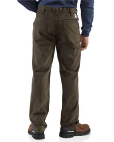 Carhartt Men's Kkaki Rugged Work Pants , Dark Brown, hi-res