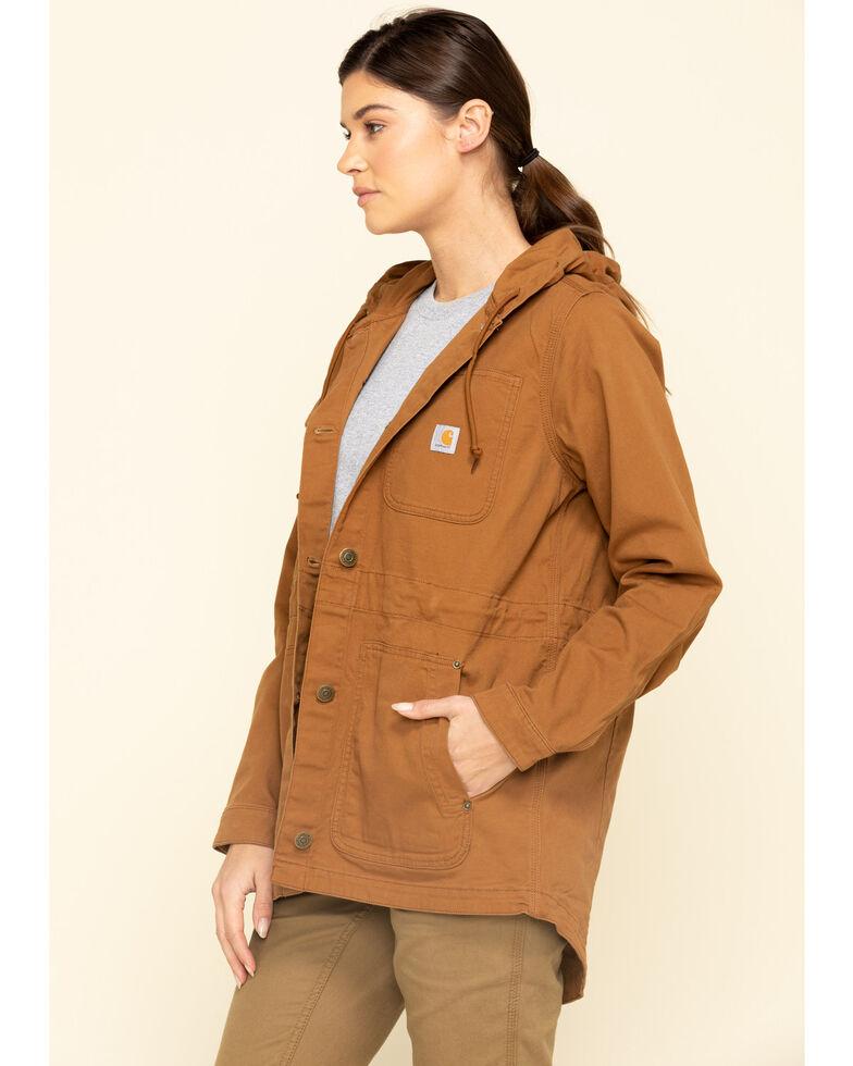 Crahartt Women's Brown Rugged Flex Canvas Coat, Brown, hi-res