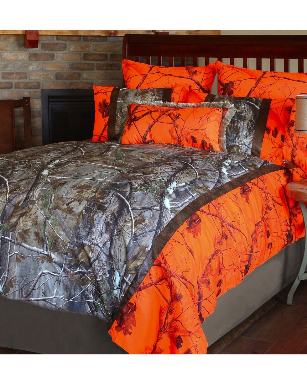 Carstens Realtree AP Blaze King Bedding - 4 Piece Set  , Orange, hi-res