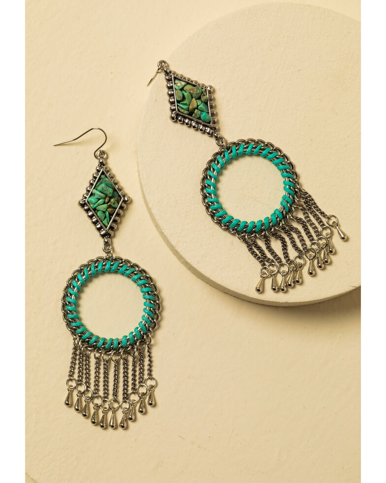 Idyllwind Women's Keep It Moving Fringe Earrings, Silver, hi-res