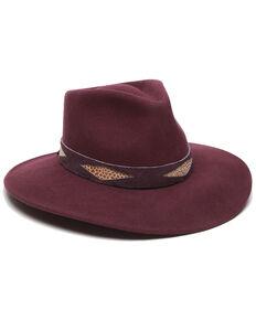 Ale' by Alessandra Women's Cobra Bordeaux Wool Felt Hat , Burgundy, hi-res