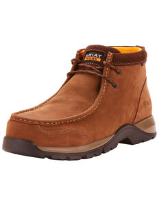 Ariat Men's Brown Edge LTE Moc Boots - Composite Toe , Dark Brown, hi-res