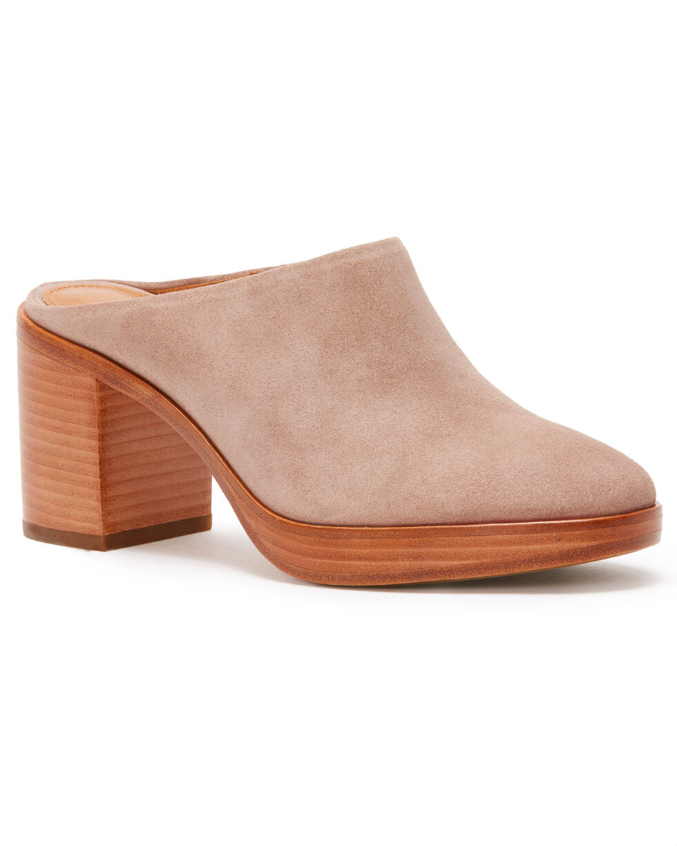 Frye Women's Dusty Rose Joan Campus Mules - Round Toe, Light/pastel Pink, hi-res