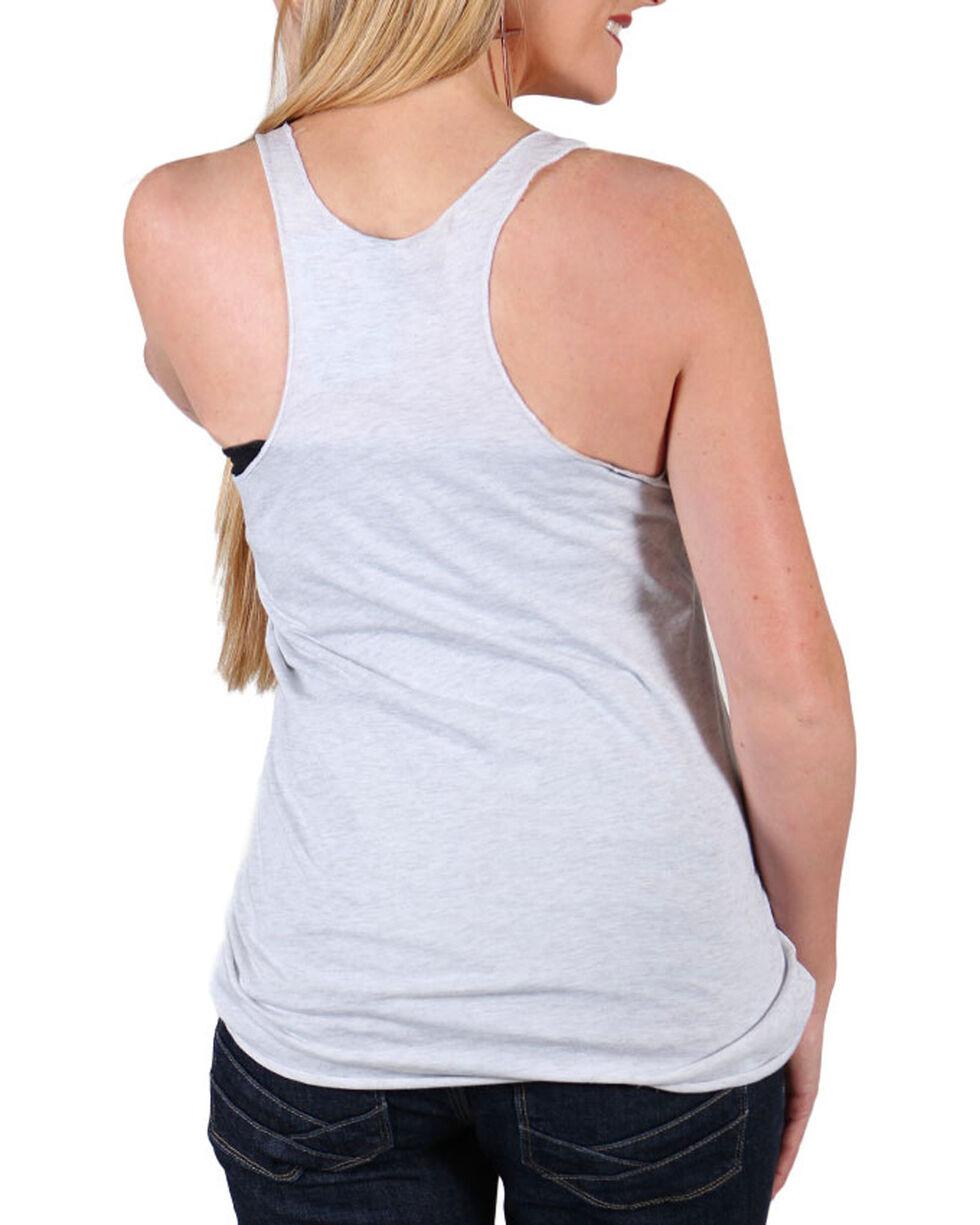 Cowgirl Tuff Women's American Cowgirl Tank Top , Grey, hi-res