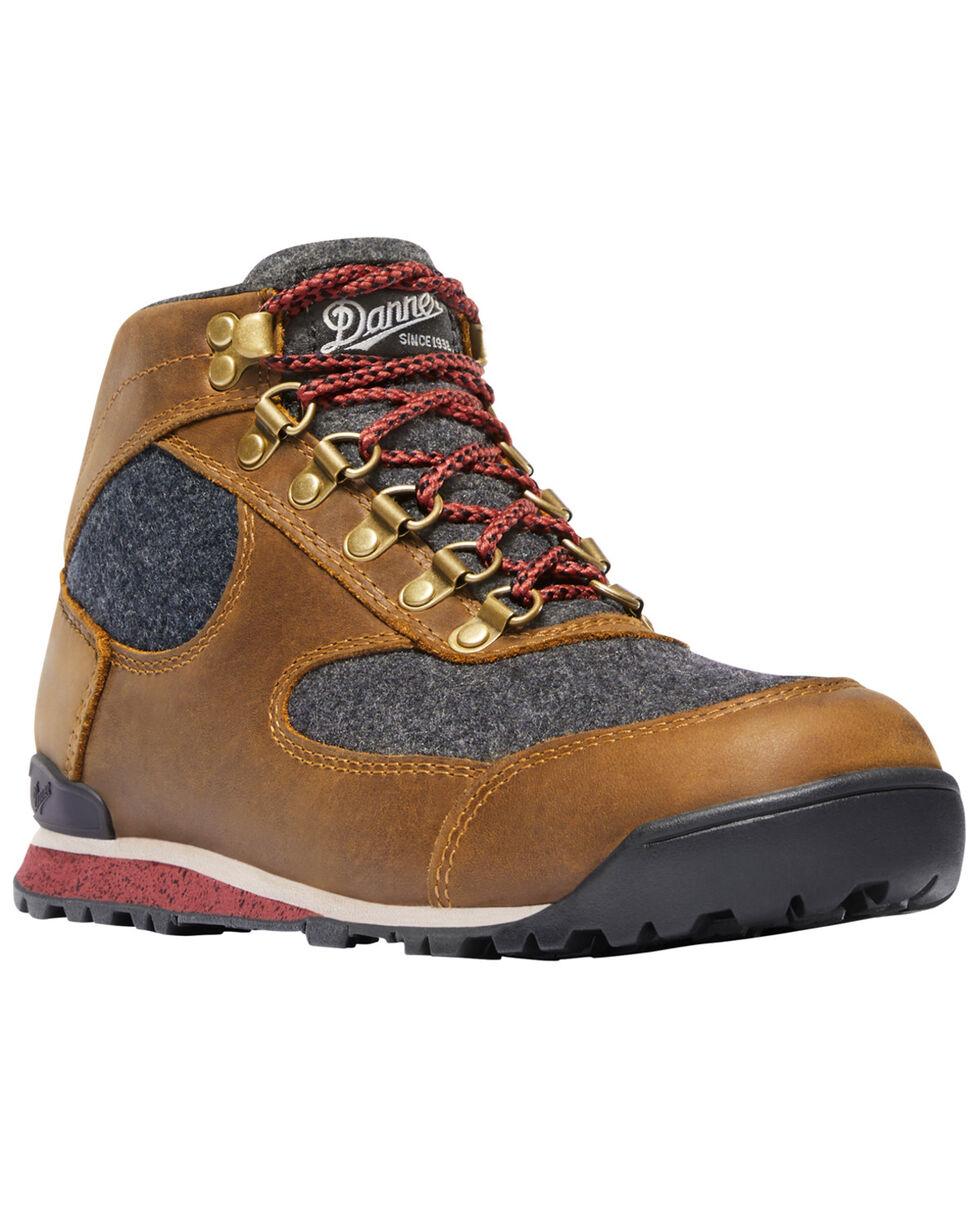 Danner Women's Brown Jag Wool Waterproof Boots - Round Toe , Dark Brown, hi-res