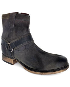 Evolutions Men's Colton II Zipper Boots - Round Toe, Dark Grey, hi-res