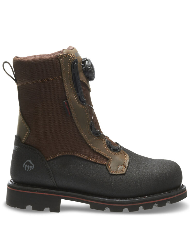 Wolverine Men's Drillbit Oil Rigger Waterproof Work Boots - Steel Toe, Brown, hi-res