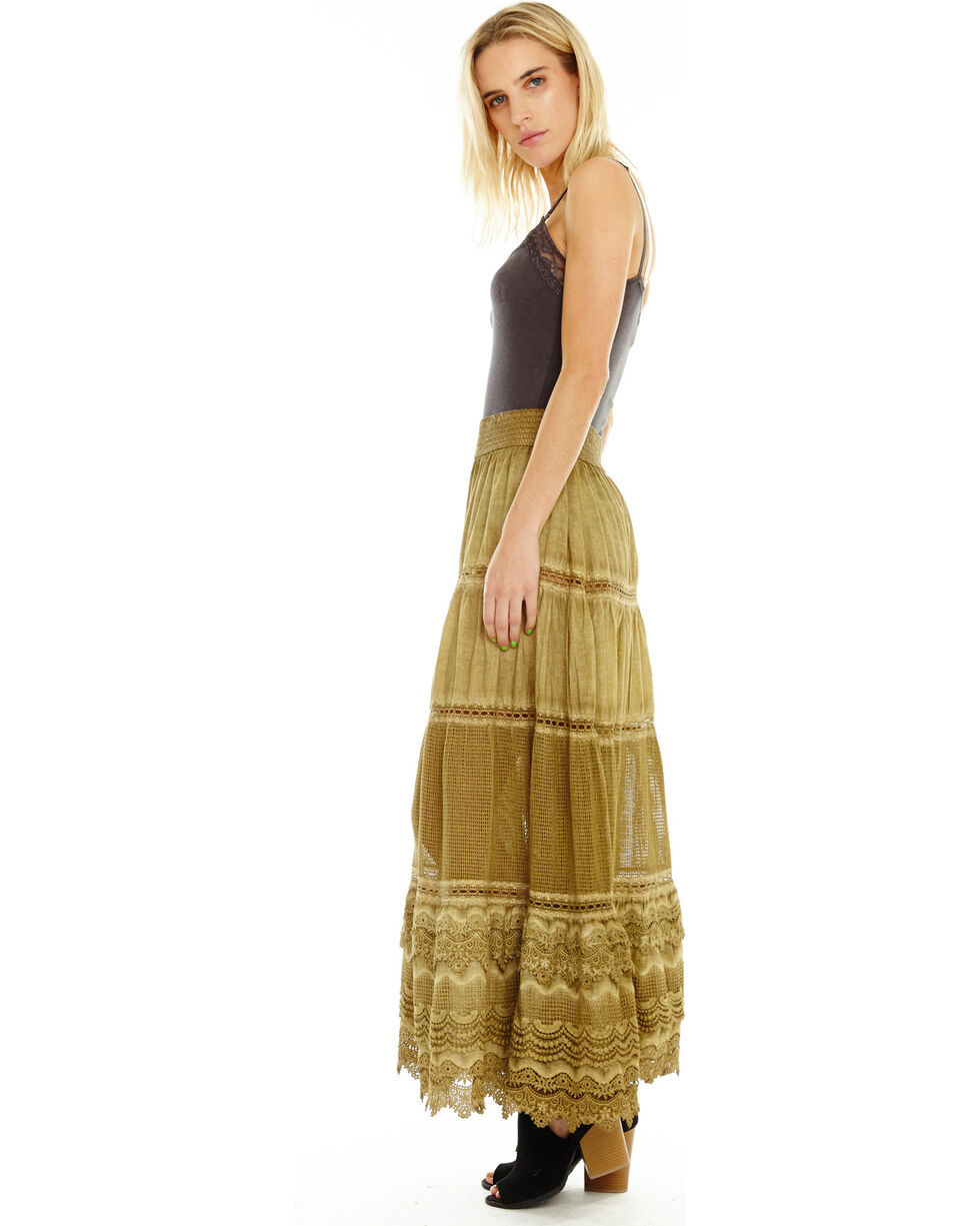 Aratta Women's Begin Again Skirt, Olive, hi-res