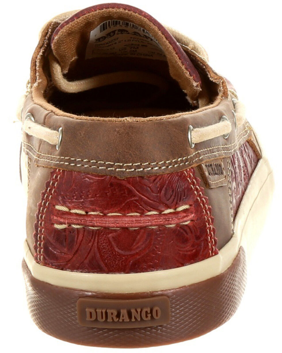 Durango Women's Music City Boat Shoes - Moc Toe, Natural, hi-res