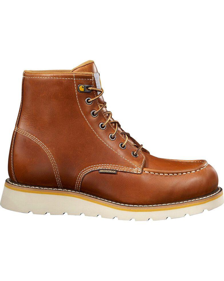 "Carhartt 6"" Tan Wedge Boots - Safety Toe, Tan, hi-res"