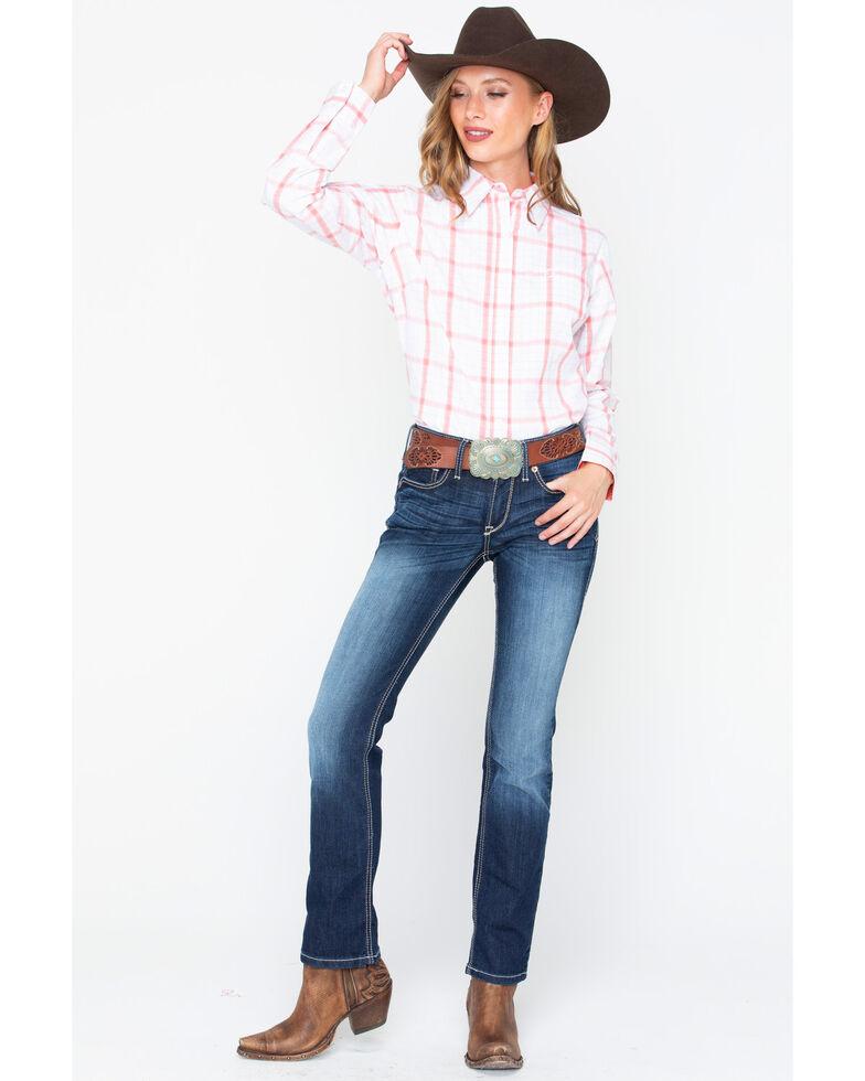 George Strait by Wrangler Women's For Her Long Sleeve Western Shirt, Multi, hi-res