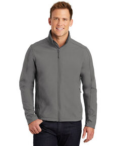 Port Authority Men's Dark Smoke Core Soft Shell Work Jacket, Grey, hi-res