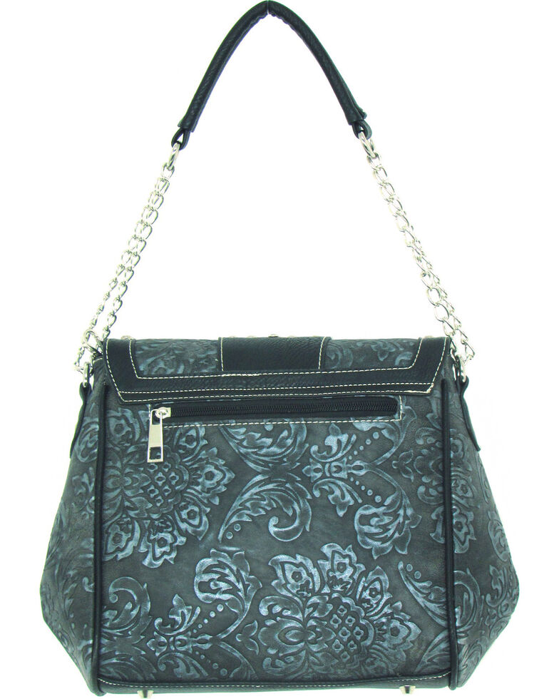 Savana Women's Faux Leather Tooled Handbag , , hi-res