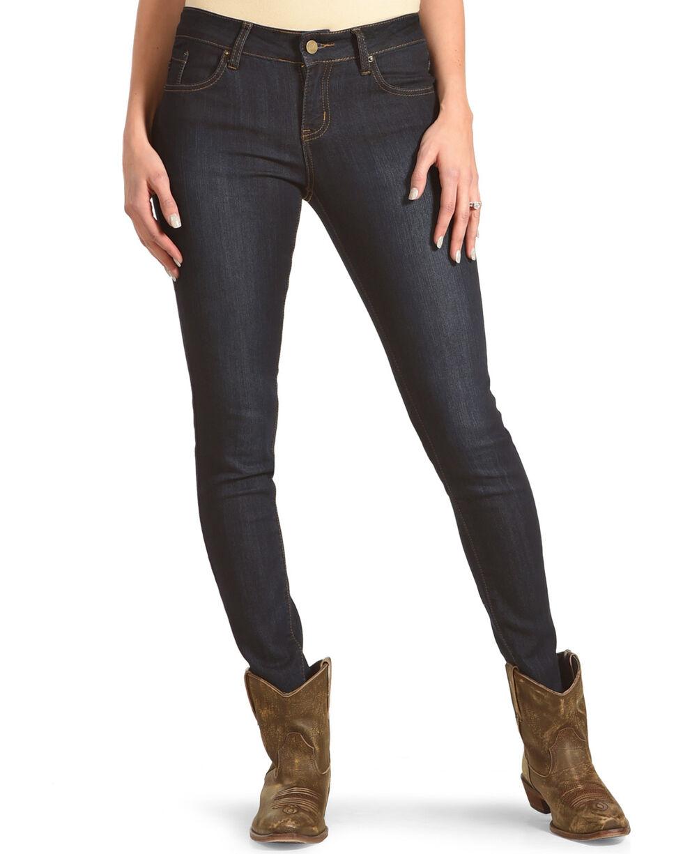 Angel Premium Women's Enzyme Washed Stretch Jeans - Skinny, Indigo, hi-res