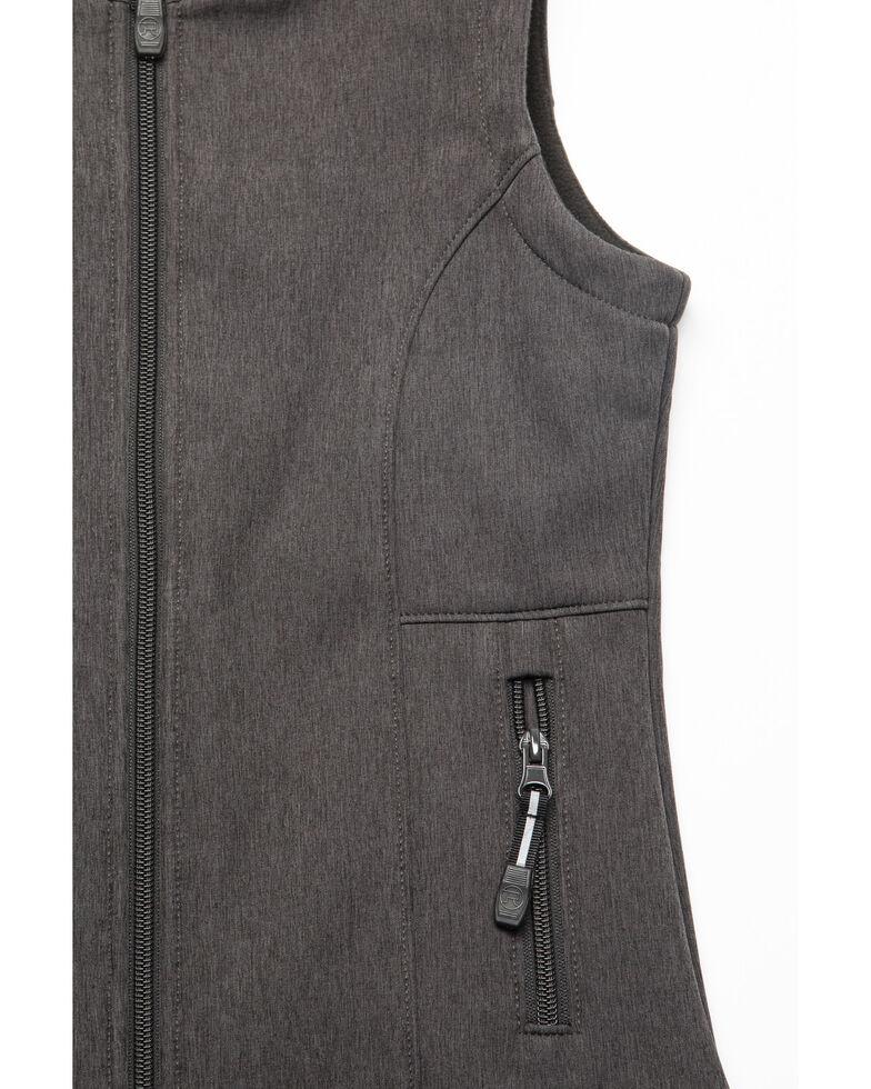 Roper Girls' Grey Softshell Vest, Grey, hi-res