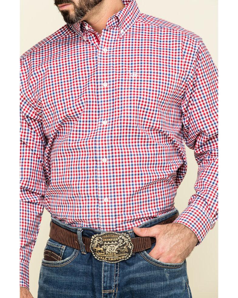 Ariat Men's Tolland Check Plaid Long Sleeve Western Shirt , Multi, hi-res