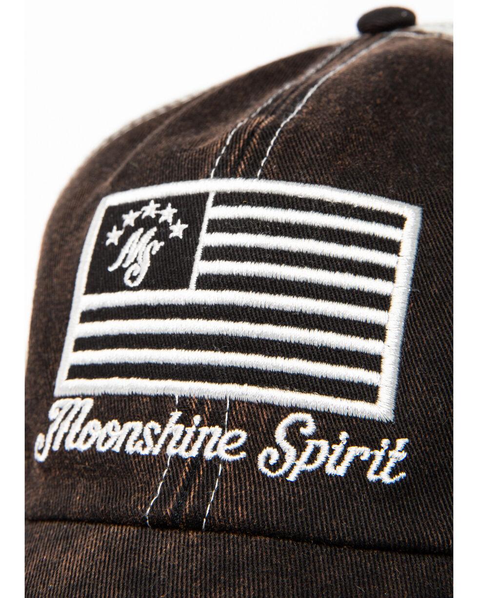 Moonshine Spirit Men's Twill Distressed Baseball Cap, Black, hi-res
