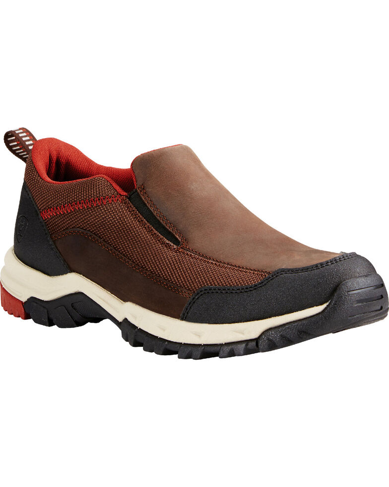 Ariat Men's Skyline Slip-On Hiking Shoes, Chocolate, hi-res