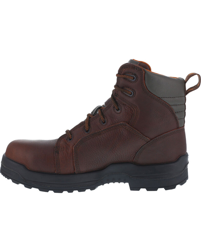 """Rockport Men's More Energy Brown 6"""" Lace-Up Work Boots - Composite Toe, Brown, hi-res"""